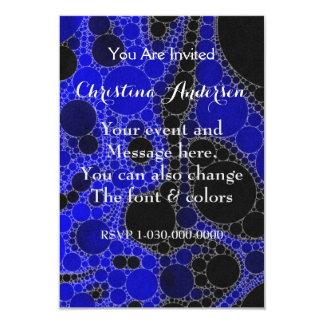 Extracto fluorescente del negro azul invitación 8,9 x 12,7 cm