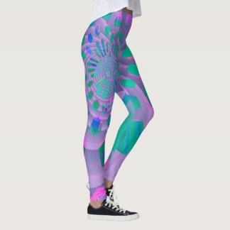 Extracto geométrico en colores pastel colorido leggings