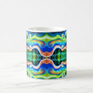 Extracto geométrico en colores pastel de la taza
