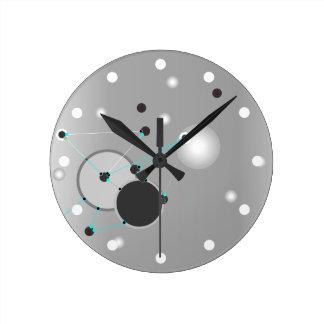 Extracto gris de las CONEXIONES el | del TIEMPO Reloj Redondo Mediano