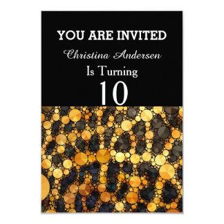 Extracto loco del estampado de animales invitación 8,9 x 12,7 cm