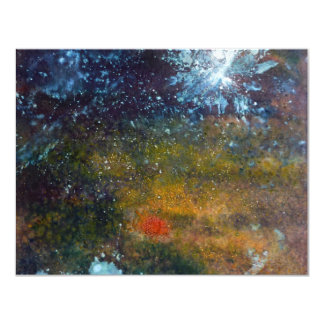 Extracto, mar en la noche invitación 10,8 x 13,9 cm