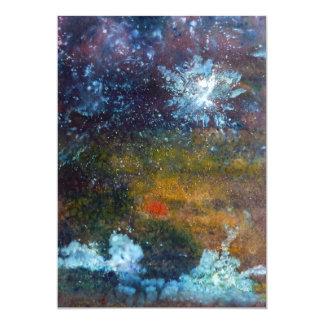 Extracto, mar en la noche invitación 12,7 x 17,8 cm