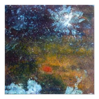 Extracto, mar en la noche invitación 13,3 cm x 13,3cm
