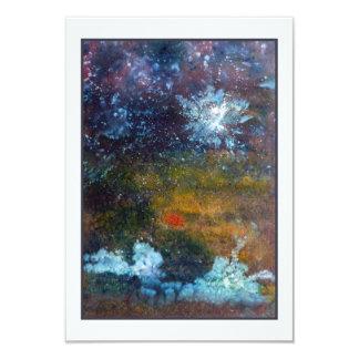Extracto, mar en la noche invitación 8,9 x 12,7 cm
