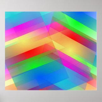 Extracto moderno del arco iris póster
