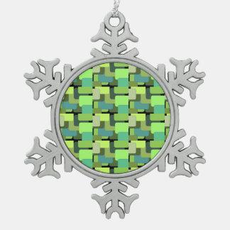 Extracto moderno del jade esmeralda verde de la adorno de peltre tipo copo de nieve