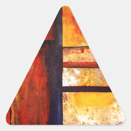 Extracto moderno calcomanías de trianguloes personalizadas