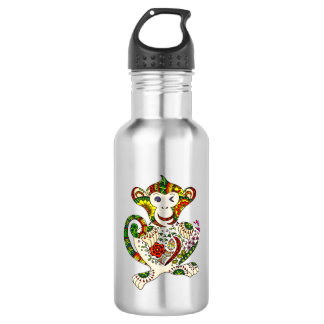 Extracto: mono alegre botella de agua