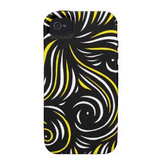 Extracto negro amarillo Case-Mate iPhone 4 carcasa