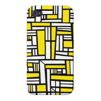 Extracto negro amarillo iPhone 4/4S fundas