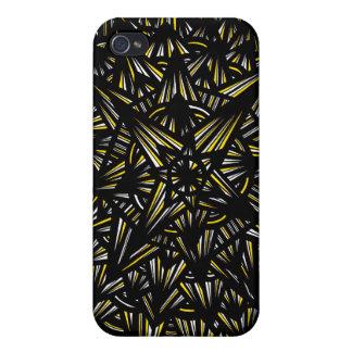Extracto negro amarillo iPhone 4 cárcasa