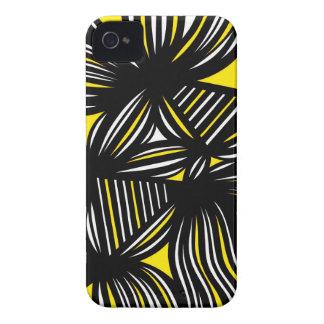 Extracto negro amarillo iPhone 4 Case-Mate cárcasas