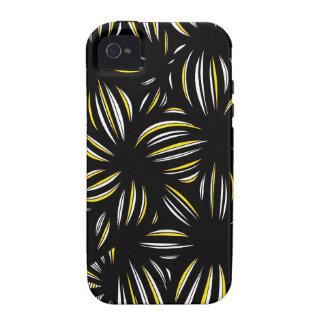 Extracto negro amarillo iPhone 4 funda