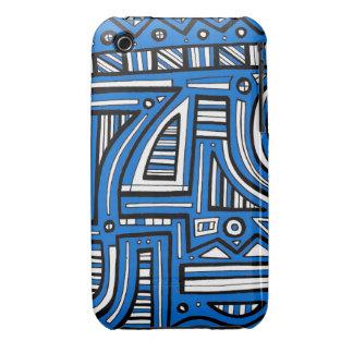 Extracto negro blanco azul Case-Mate iPhone 3 cárcasas