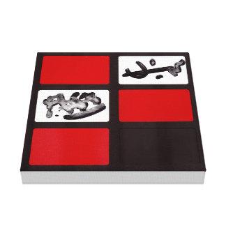 Extracto negro rojo #3 de la impresión de la lona