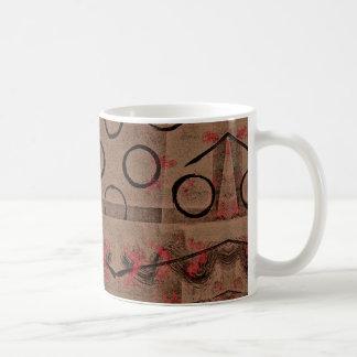 Extracto negro rojo del moreno taza de café