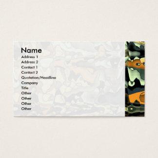 Extracto oxidado tarjeta de negocios