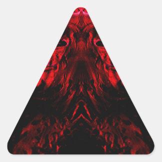 extracto pegatina triangular