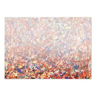 Extracto - pintura - suicidio del payaso invitación 12,7 x 17,8 cm