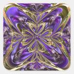 Extracto púrpura de la anémona calcomanía cuadrada