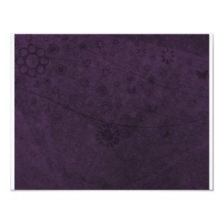 Extracto retro púrpura de las flores y de las comunicado personalizado