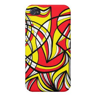 Extracto rojo amarillo iPhone 4 cárcasas