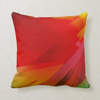 Extracto rojo colorido brillante almohadas