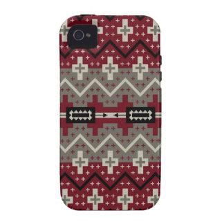 Extracto rojo de Navajo Vibe iPhone 4 Funda