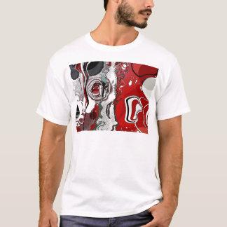 Extracto - rojo/negro - retroceso cada vez mayor camiseta