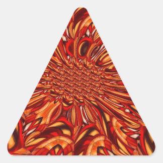 Extracto rojo pegatina triangular
