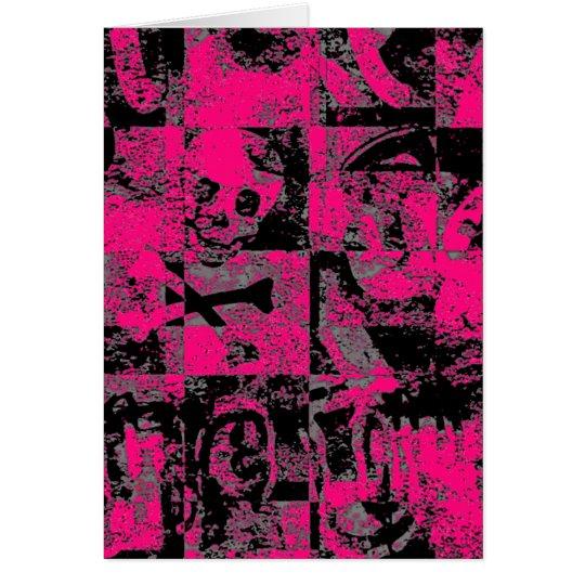 Extracto rosado de Emo Tarjeta De Felicitación