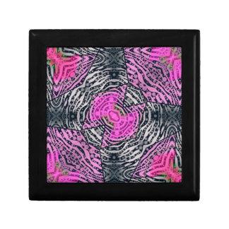 Extracto rosado de la cebra joyero cuadrado pequeño