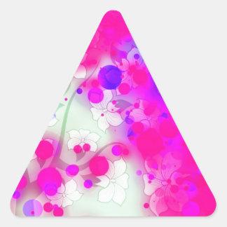 Extracto rosado floral intrépido y elegante de la pegatina triangular