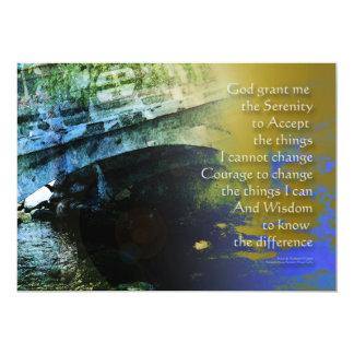 Extracto uno del puente del rezo de la serenidad invitación 12,7 x 17,8 cm
