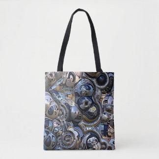 Extracto urbano colorido bolso de tela