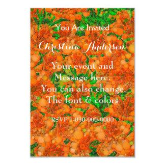 Extracto verde anaranjado fluorescente de la flor invitación 8,9 x 12,7 cm