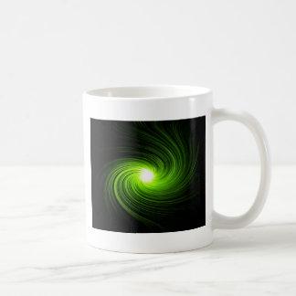 Extracto verde del remolino taza de café