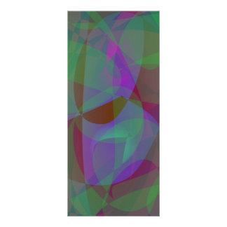 Extracto verde oscuro de las capas translúcidas tarjeta publicitaria a todo color