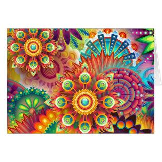 Extracto vibrante tarjeta de felicitación
