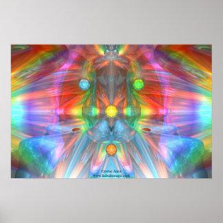Extranjero cristalino póster