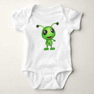 Extranjero verde lindo body para bebé
