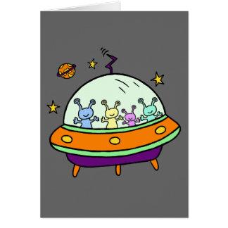 Extranjeros amistosos tarjeta de felicitación