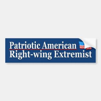 Extremista de la derecha americano patriótico pegatina para coche