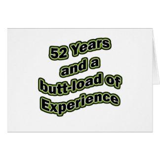 extremo-carga 52 tarjeta de felicitación