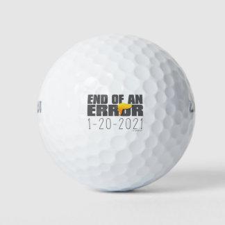 Extremo de una pelota de golf del error