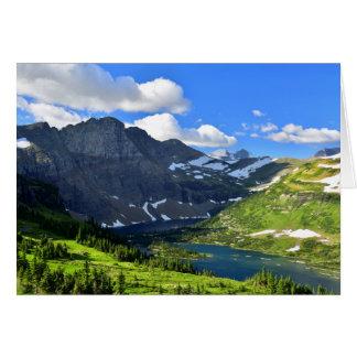 Extremo meridional del lago ocultado tarjeta de felicitación