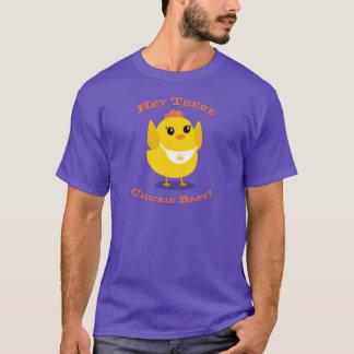 Ey allí bebé de Chickie - camiseta básica