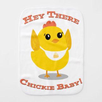 Ey allí bebé de Chickie - paño del Burp