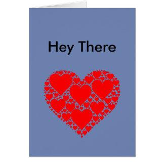 Ey allí tarjeta del fractal del corazón
